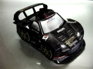 Papercraft del coche Rockstar Dome NSX 2009. Manualidades a Raudales.