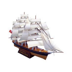 Papercraft imprimible y armable del Velero Cuttysark. Manualidades a Raudales.