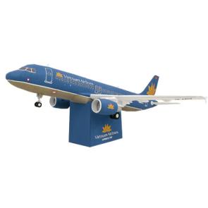Papercraft del avión Airbus 320 Vietnam. Manualidades a Raudales.