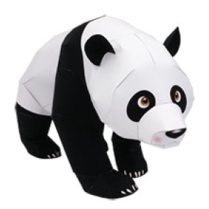 Papercraft de un Panda Gigante / Gigant Panda. Manualidades a Raudales.