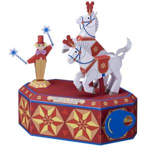 Papercraft del Circo. Caballos blancos. Manualidades a Raudales.