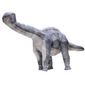 Papercraft del Dinosaurio - Apatosaurus. Manualidades a Raudales.
