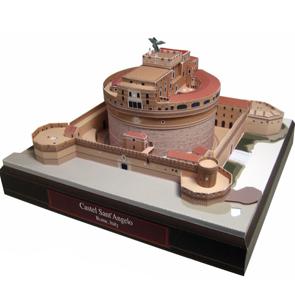 Papercraft building imprimible y armable del Castillo Sant Angelo en Italia. Manualidades a Raudales.