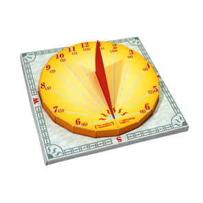 Papercraft de un reloj de sol. Manualidades a Raudales.
