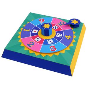 Papercraft imprimible y armable de una Ruleta para jugar. Manualidades a Raudales.