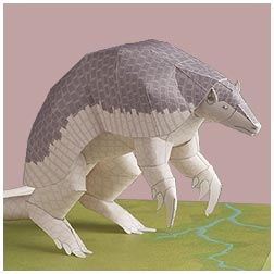 Papercraft del armadillo gigante. Manualidades a Raudales.