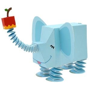 Papercraft de un Elefante infantil. Manualidades a Raudales.