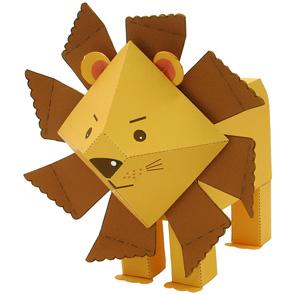 Papercraft de un León infantil / Lion. Manualidades a Raudales.