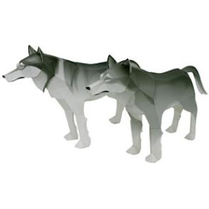 Papercraft de un Lobo Gris. Manualidades a Raudales.