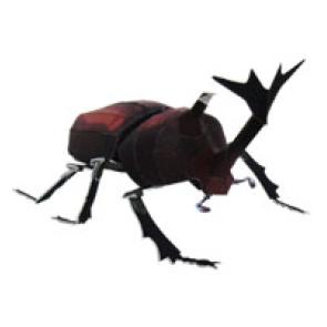 Papercraft del Escarabajo Ciervo Volante. Manualidades a Raudales.