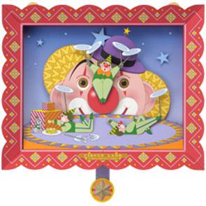 Papercraft del Circo. Payasos girando platos chinos. Manualidades a Raudales.