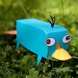 Papercraft de Perry. Manualidades a Raudales.