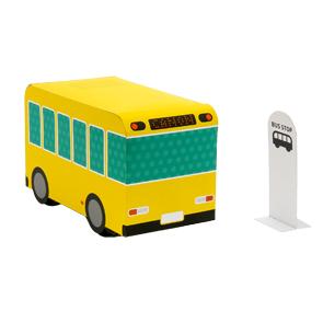 Papercraft de un autobús con movimiento. Manualidades a Raudales.