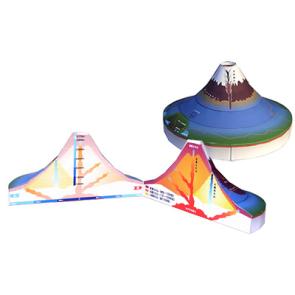 Papercraft del mecanismo de un volcán. Manualidades a Raudales.