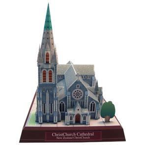 Papercraft buiding de la Catedral de Christchurch. Manualidades a Raudales.