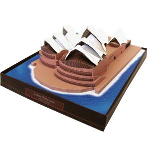 Papercraft building de la Opera de Sidney. Manualidades a Raudales.