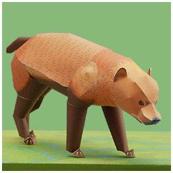 Papercraft imprimible y armable de un perro venadero. Manualidades a Raudales.