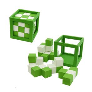 Papercraft de un Puzzle Cúbico Ajedrezado / Checkered Cube Puzzle. Manualidades a Raudales.