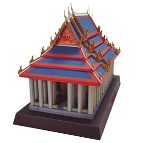 Papercraft building del Templo de Esmeralda. Manualidades a Raudales.