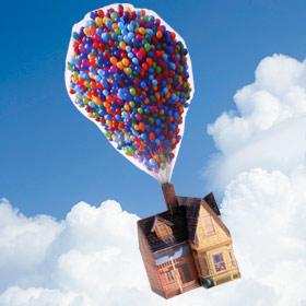 UP - Casa globos. Manualidades a Raudales.