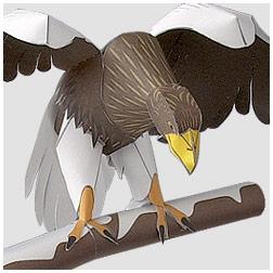 Papercraft del Águila de Steller. Manualidades a Raudales.