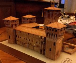Papeercraft del Castello Delle Rocche en Italia. Manualidades a Raudales.