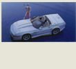 Papercraft imprimible y armable del Chevrolet Corvette Tatsuhen. Manualidades a Raudales.