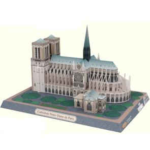 Papercraft building imprimible y recortable de Notre Dame. Manualidades a Raudales.