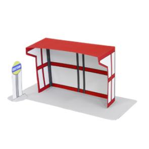 Papercraft de la parada autobús. Manualidades a Raudales.