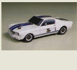 Papercraft del coche Shelby GT350R. Manualidades a Raudales.