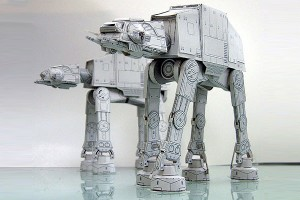 Papercraft imprimible y armable de Star Wars. AT AT. Manualidades a Raudales.