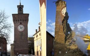 papercraft de la Torre Dell´Orologio en Italia. Manualidades a Raudales.