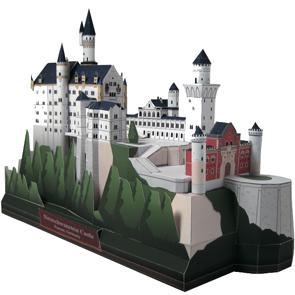 Papercraft building recortable del Castillo Neuschwanstein en Alemania. Manualidades a Raudales.