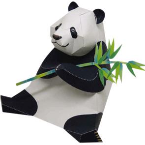Papercraft de un Oso Panda / Giant Panda. Manualidades a Raudales.
