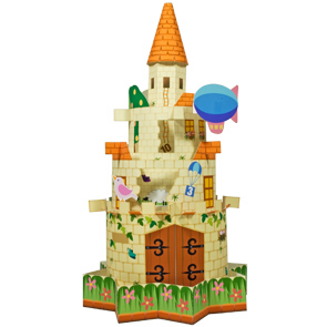 Papercraft de un Castillo infantil. Manualidades a Raudales.