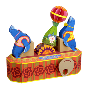 Papercraft del Circo. Acrobacia de Lobos Marinos y Payaso / Clown and Sea Lion Acrobatics. Manualidades a Raudales.