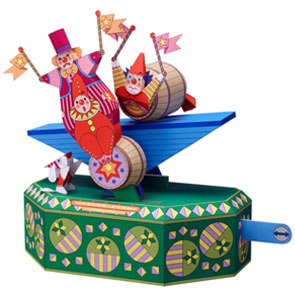 Papercraft del Circo. Payasos en un Barril / Clown in a Barrel. Manualidades a Raudales.