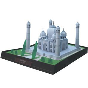 Papercraft building del Taj Mahal en la India. Manualidades a Raudales.