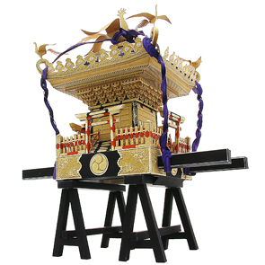 Papercraft recortable y armable de un Mikoshi. Manualidades a Raudales.