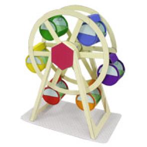 Papercraft imprimible de una Noria / Ferris Wheel. Manualidades a Raudales.