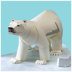 Papercraft de un Oso Polar / Polar Bear. Manualidades a Raudales.