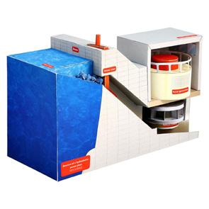 Papercraft de la Estructura de una central de energía hidroeléctrica / hydroelectric hydropower. Manualidades a Raudales.