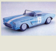 Papercraft del coche Tokoro´s Corvette 1962. Manualidades a Raudales.