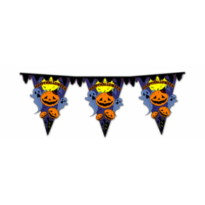 Imprimible Banner de banderas para Halloween. Manualidades a Raudales.