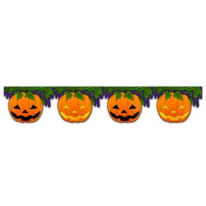 Imprimible de un Banner de calabaza para Halloween. Manualidades a Raudales.