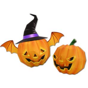 Papercraft de una Calabaza de Halloween. Manualidades a Raudales.