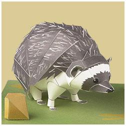Papercraft del erizo de sudáfrica. Manualidades a Raudales.