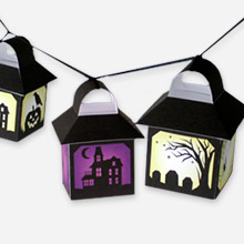 Papercraft de Faroles decorativos para Halloween. Manualidades a Raudales.