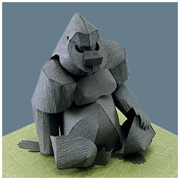 Papercraft de un gorila. Manualidades a Raudales.