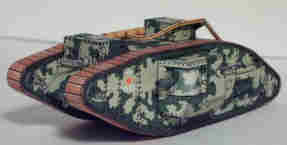 Papercraft recortable del Tanque Chem Dyelo Mark V. Manualidades a Raudales.